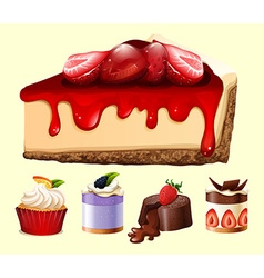 Different kind of desserts vector