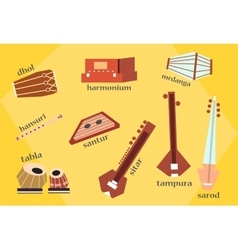 indian instruments vector image