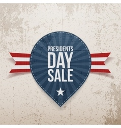 Presidents day sale on blue label vector