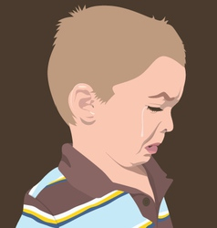 Boy crying vector
