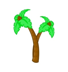 Palm tree with coconuts icon cartoon style vector