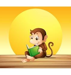 A monkey reading vector