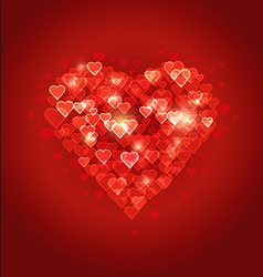 Beautiful abstract heart bokeh background vector