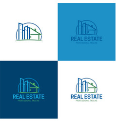 buildings real estate logo and icon vector image vector image