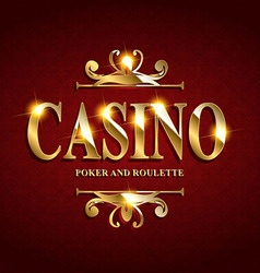 Casino Poster Background vector image