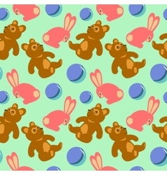 Children toys seamless retro pattern vector