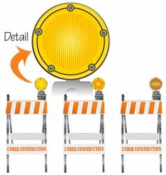 construction markers vector image