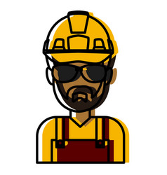 construction worker cartoon vector image