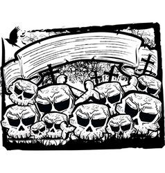 Detailed cartoon skull vector