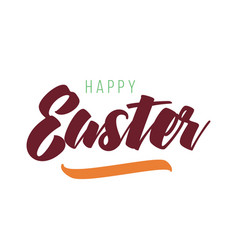 easter typography design vector image