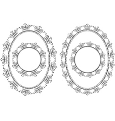 frames round and oval vector image vector image