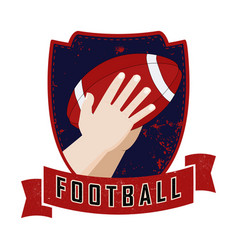 hands catches ball vector image