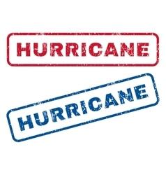 Hurricane rubber stamps vector