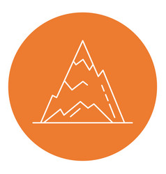 Ice mountain peak icon in thin line style vector