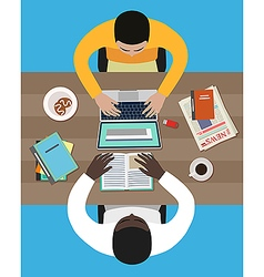 Meeting of business partners vector image vector image