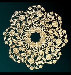 Ornamental gold flower - vector