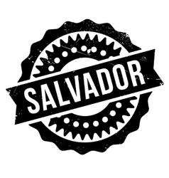 Salvador stamp rubber grunge vector