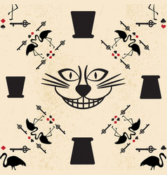 seamless pattern in the style of alice in vector image