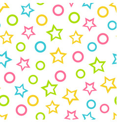 seamless wallpaper color pattern for kids vector image vector image