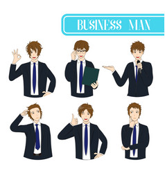 Set business man vector