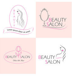Set of logo templates labels and badges vector