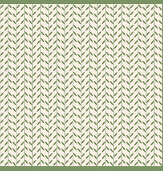 Simple pattern with leaves vintage vector
