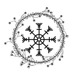 Snowflake of christmas season design vector