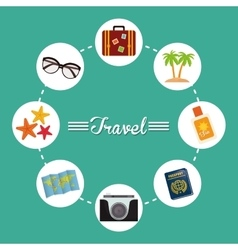 Summer vacations and trave vector image