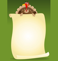 Turkeys holding menu vector