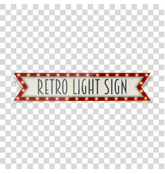 vintage realistic light sign vector image vector image