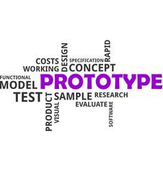 Word cloud - prototype vector