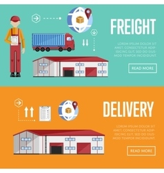 Delivery and Logistic banner set vector image