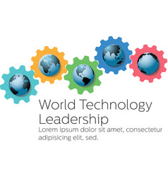 World technology global leader gears vector