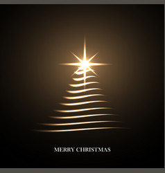 bright christmas tree vector image