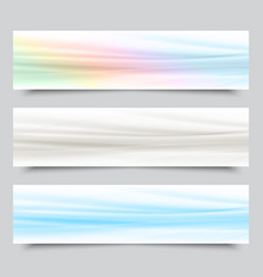 Background curves gray blue green banner vector