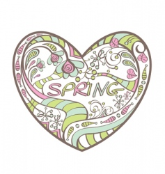 cute spring heart vector image