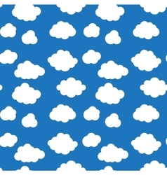 Flat design cloudscapes seamless pattern vector