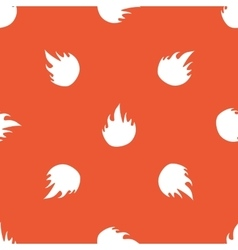 Orange fire pattern vector