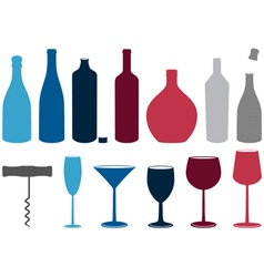 Liquor bottles vector