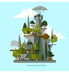 Landscape design flat vector