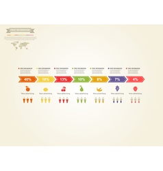 Fruit infographics vector