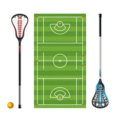 Lacrosse field equipment ball vector