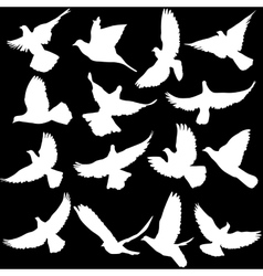 Concept of love or peace Set of silhouettes of vector image