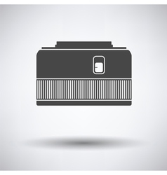 Icon of photo camera 50 mm lens vector