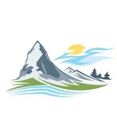 Abstract high mountain vector image