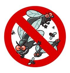 anti blackfly sign vector image