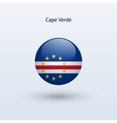 Cape verde round flag vector