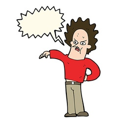Cartoon nasty boy with speech bubble vector