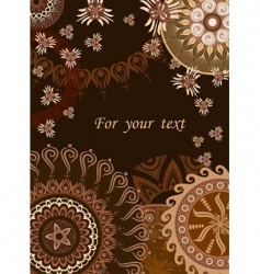 chocolate postcard vector image
