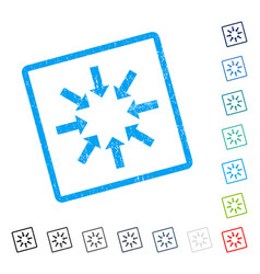 Collapse arrows icon rubber watermark vector